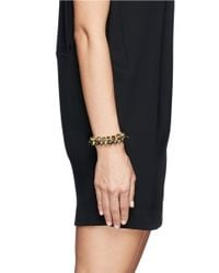 Joomi Lim - Metallic Arrowhead Spike Crystal Faux Pearl Bracelet - Lyst