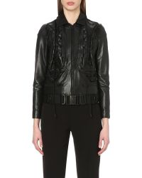 Undercover - Black Quilted Leather Biker Jacket - Lyst
