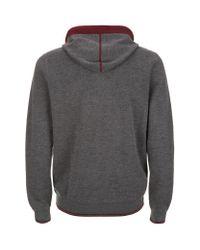 Stefano Ricci - Gray Cashmere-silk Hooded Sweatshirt for Men - Lyst