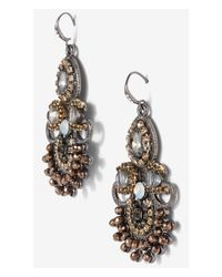 Express - Multicolor Ornate Rhinestone Dangle Earrings - Lyst