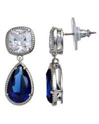 Carolee | Blue Sapphire Glass Peardrop Drop Earrings | Lyst