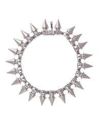 Noir Jewelry   Metallic Tobi Tree Spike Bracelet   Lyst