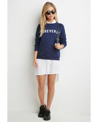 Forever 21 - Blue Graphic Sweatshirt - Lyst