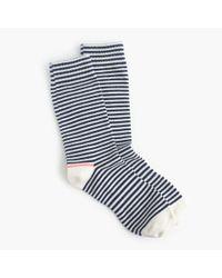 J.Crew - Blue Tipped Striped Socks - Lyst