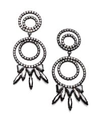 DANNIJO | Black Mildred Chandelier Earrings | Lyst