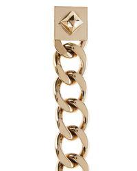 Karen Millen Metallic Statement Chain Link Bracelet