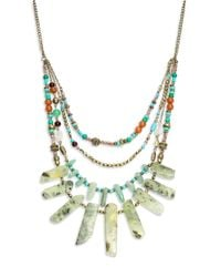 Cara | Multicolor Faux Stone And Beaded Bib Necklace for Men | Lyst
