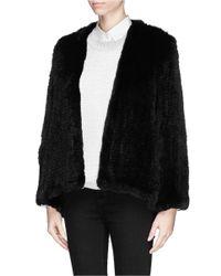 H Brand Black Emily Fur Jacket
