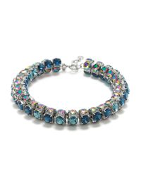 J.Crew | Blue Full Spectrum Crystal Necklace | Lyst