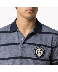 Tommy Hilfiger - Blue Cotton Pique Regular Fit Polo for Men - Lyst