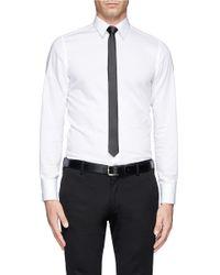 Lanvin - Gray Silk Skinny Tie for Men - Lyst