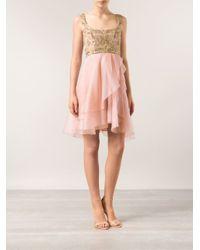 Lyst - Notte By Marchesa Silk Organza Cocktail Dress in Pink