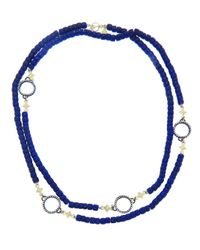 Armenta - Blue Bead Chain Necklace - Lyst