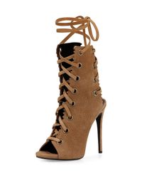Giuseppe Zanotti - Brown Suede Lace-Up Boot - Lyst