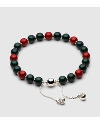 Gucci | Bracelet With Green And Red Wooden Beads for Men | Lyst