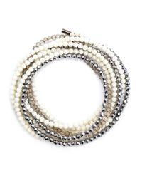 Brunello Cucinelli | White Pearl Necklace | Lyst