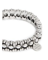 Philippe Audibert | Metallic 'New Amelia' Small Round Bead Elastic Bracelet | Lyst
