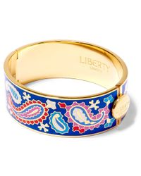 Liberty - Blue Denby Paisley Multicolour Thick Cuff - Lyst