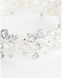 Oasis   Metallic Vintage Crystal Pearl Deco Stretch Bracelet   Lyst
