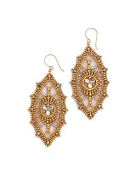 Miguel Ases | Metallic Allison Earrings - Gold | Lyst