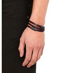 Bottega Veneta Brown Wraparound Leather Bracelet for men