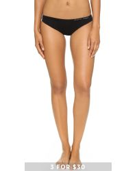 Calvin Klein | Black Pure Seamless Bikini Panties | Lyst