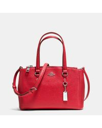 COACH | Red Stanton 26  Leather Tote | Lyst