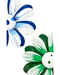 Carole Tanenbaum | 1960S Green, White, Blue Splattered Enamel Flower Unsigned Pins | Lyst