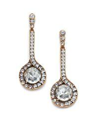 Oscar de la Renta | Blue Jeweled Pendant Drop Earrings | Lyst