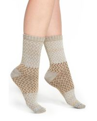 Free People | Gray 'lager' Knit Crew Socks | Lyst