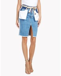 DSquared² - Blue Inside Out Skirt - Lyst