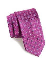 Ted Baker | Purple Floral Silk Tie for Men | Lyst