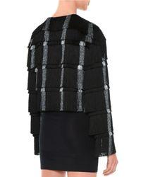 Marco De Vincenzo - Black Layered-Fringe Cropped Jacket - Lyst