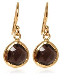 Dinny Hall - Metallic Gold Vermeil Smoky Quartz Jaipur Drop Earrings - Lyst