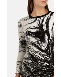 Karen Millen Multicolor Mineral-pattern Knitted Dress