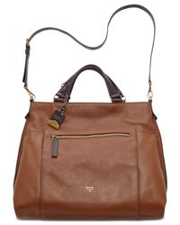 Fossil | Brown Vickery Leather Tote | Lyst