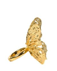 Alexander McQueen | Metallic Ring | Lyst