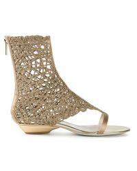 Giorgio Armani Metallic 'Vergolino' Sandals