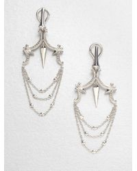 Stephen Webster | Metallic Sterling Silver Chandelier Earrings | Lyst