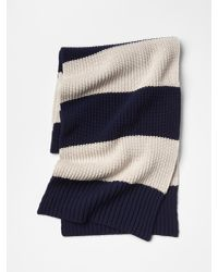 Gap - Blue Rugby Stripe Scarf for Men - Lyst