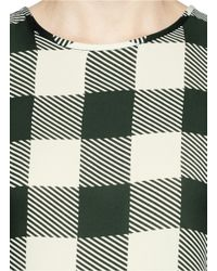 Rag & Bone Multicolor 'harper' Check Silk Sleeveless Blouse