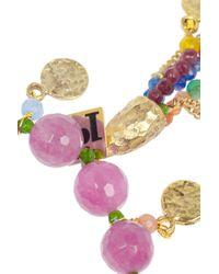 Rosantica - Pink Everest Gold Dipped Multistone Bracelet - Lyst