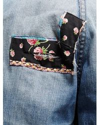 Free People - Blue Vintage Patchwork Jeans - Lyst