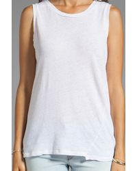 My Line - Pria Muscle Tank in White - Lyst