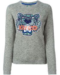 KENZO - Gray 'tiger' Sweatshirt - Lyst