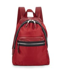 French Connection Red Piper Mixed-media Backpack