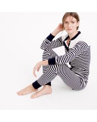 J.Crew | Blue Sailor-striped Union Suit | Lyst
