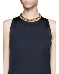 Ela Stone | Metallic Lionnie Embellished Chain Necklace | Lyst
