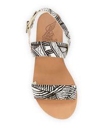 Ancient Greek Sandals - Black Dinami Printed-Leather Sandals  - Lyst