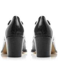 Dune Black Fritz Block Heel Lace Up Shoe